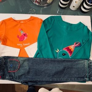 Gymboree Sweet Music Sz 5T Top Tunic Jeans Outfit